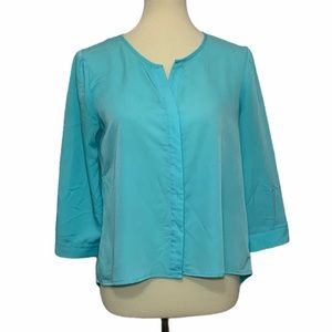 Chico's High-Lo Button Up Blouse